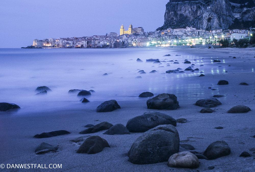 Cefalu at dusk. Sicily . #.341