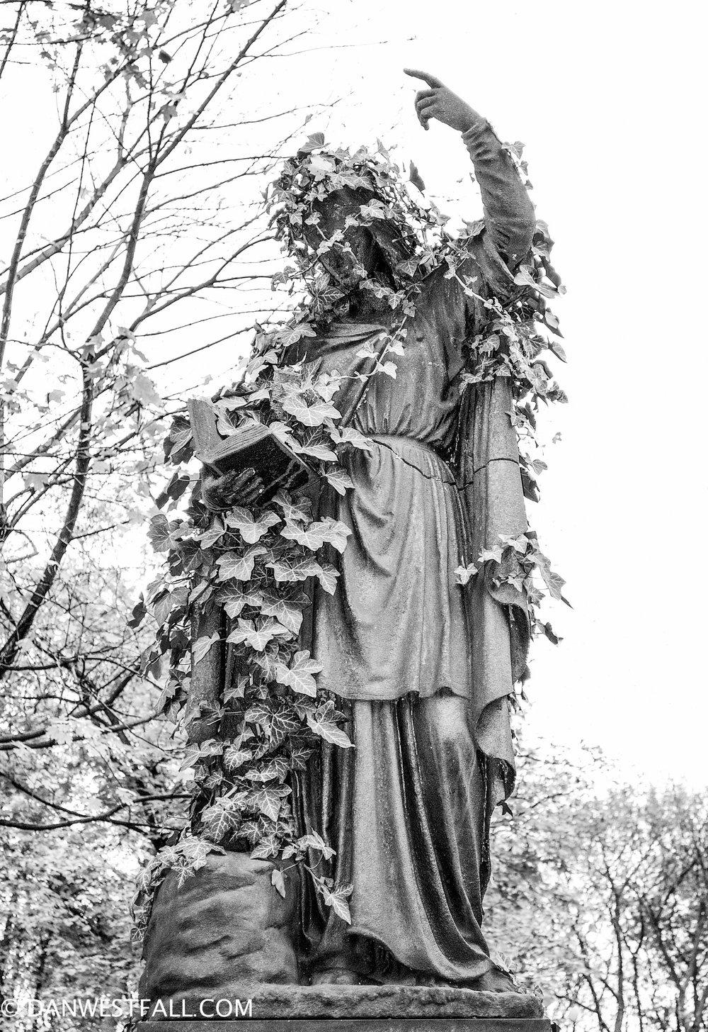 Overgrown Headstone. Vienna. #.701