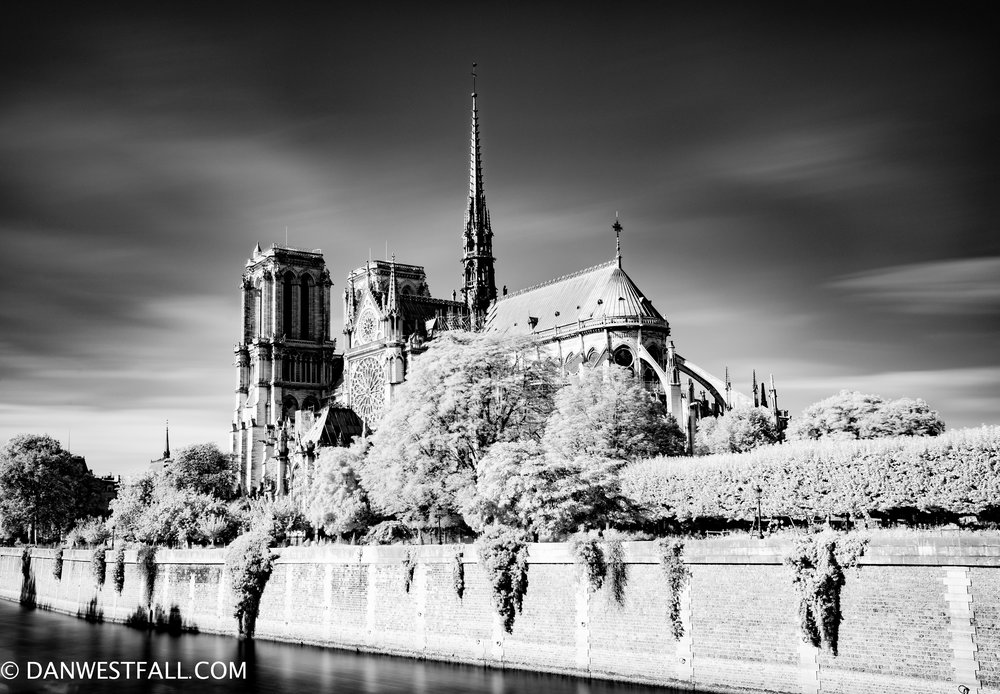Notre Dame infrared. paris. #0931