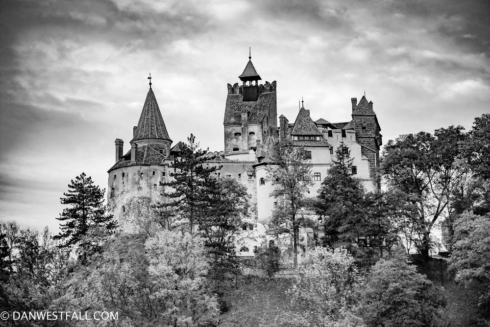 """""""Castle Dracula"""" Black and white. Bran, Romania. #0934"""