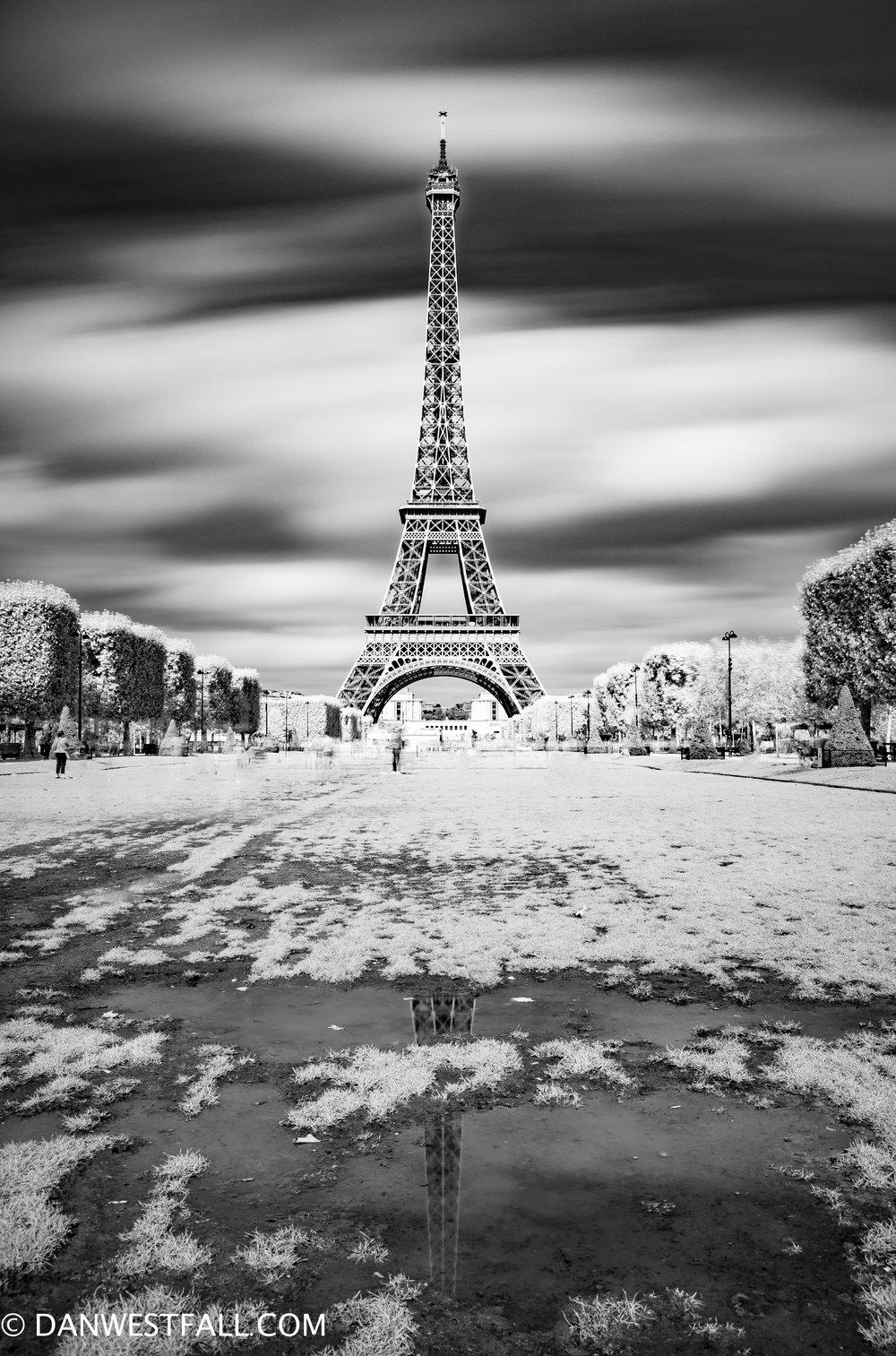 Eiffel Tower infrared. Paris. #0937
