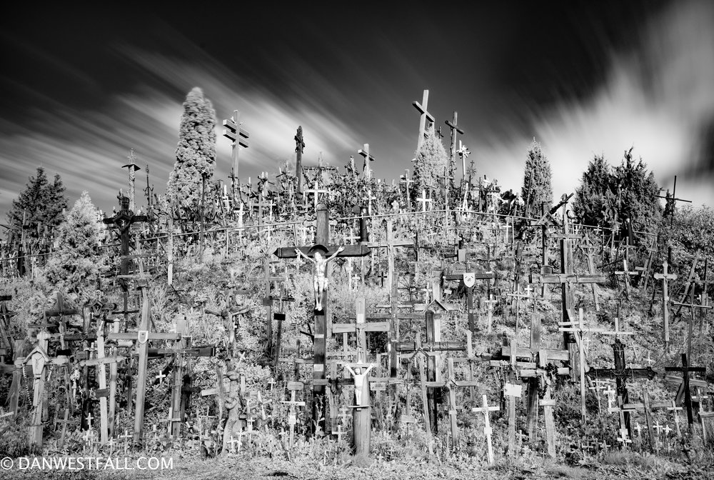 Hill of Crosses infrared. Lithuania. #0938