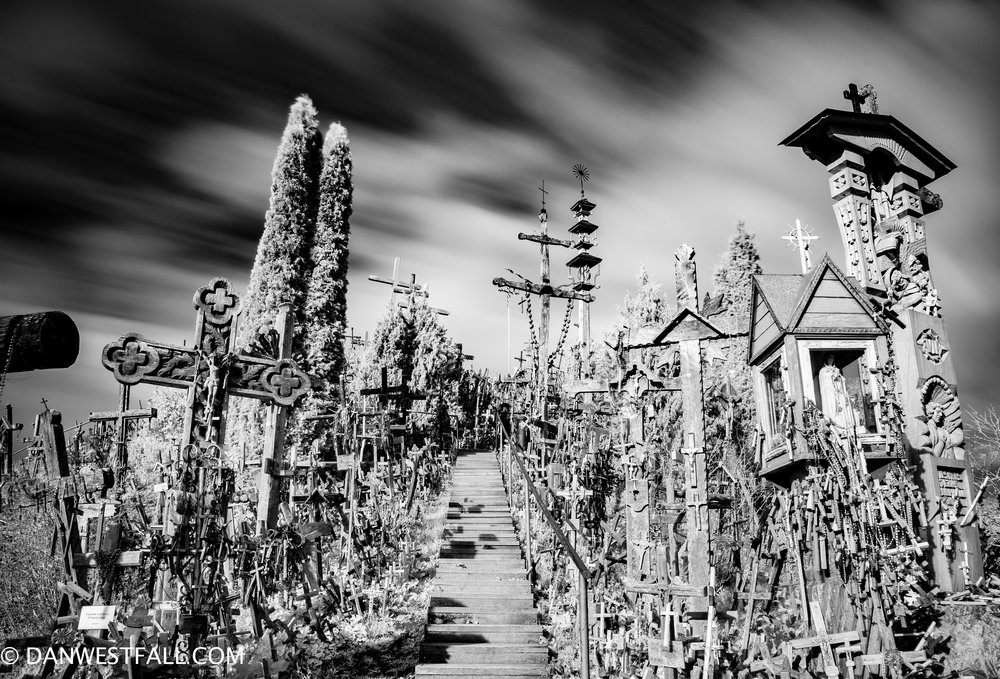 Hill of Crosses infrared 2. Lithuania. #0939