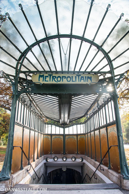 Art Nouveau Metro. Paris. #0943