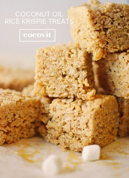 Coconut Oil Rice Krispie Treats