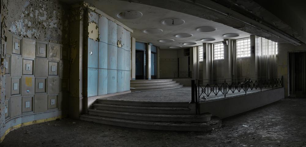 The downstairs bar / hospitality area.