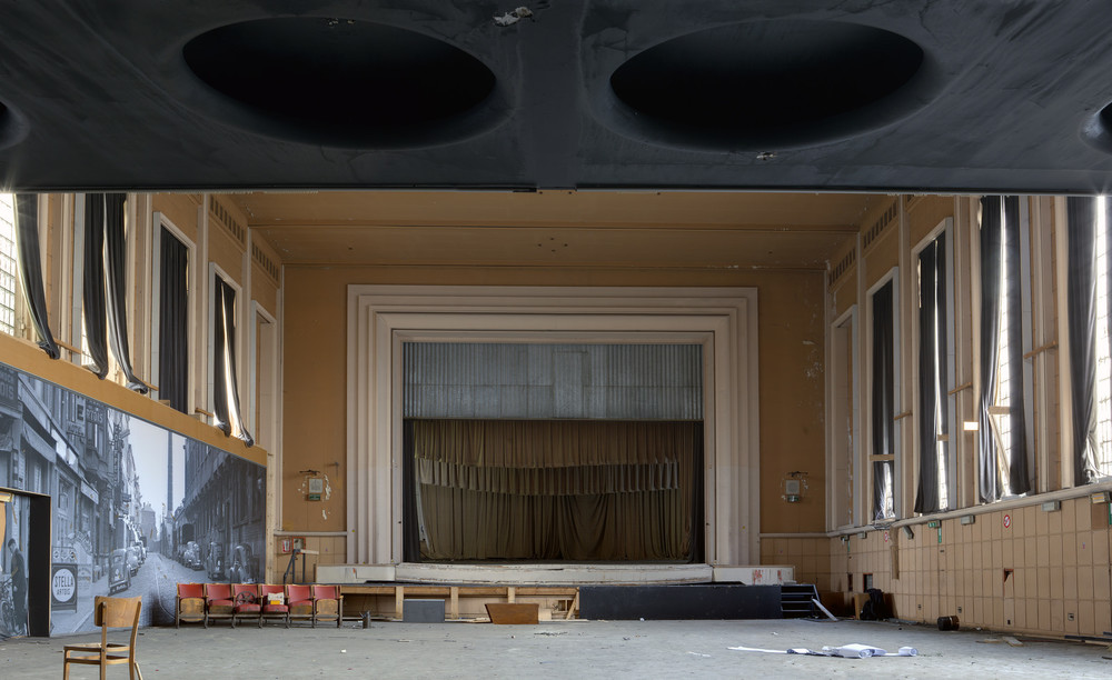 The main auditorium. Now devoid of seating (almost).