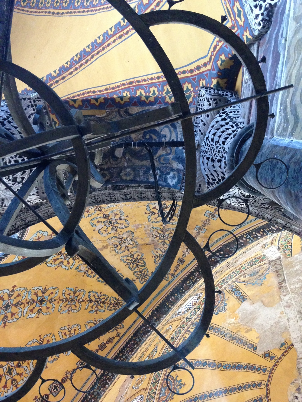 My very best photo of Hagia Sophia in Istanbul. It is a bit dizzy making but I like it.