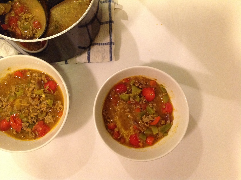 spaghetti squash and turkey soup
