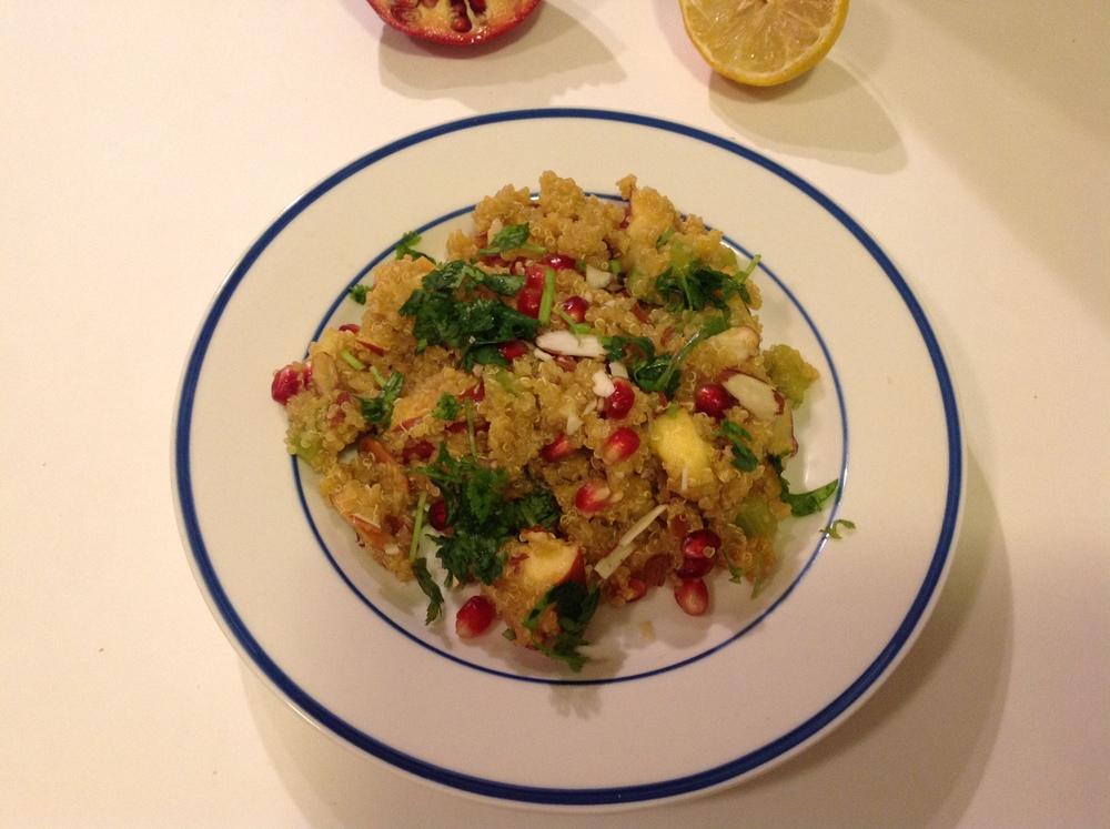 Quinoa Salad with Apple, Pomegranate and Almond