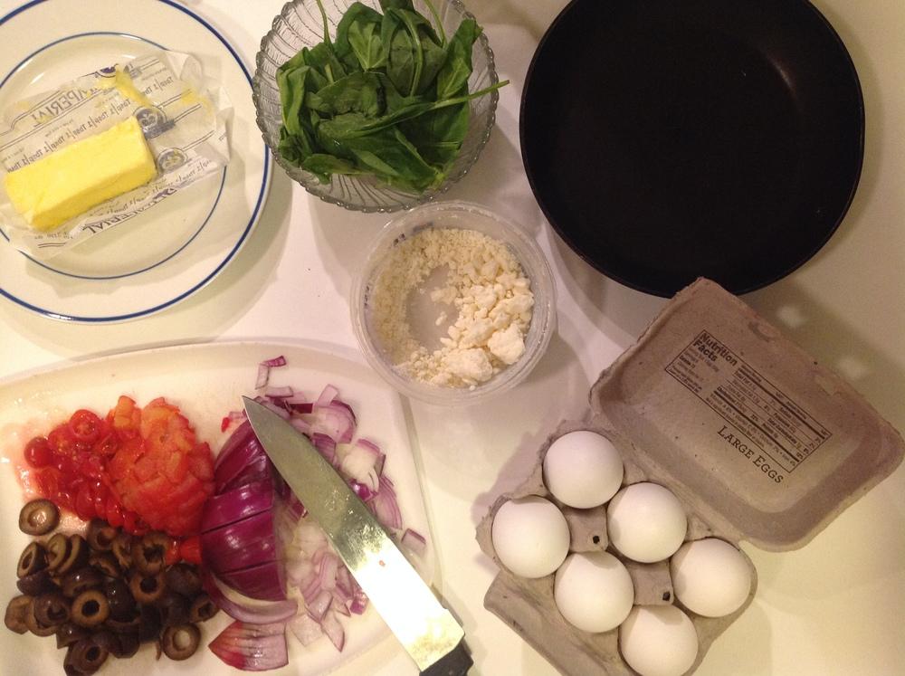 greek salad fritatta