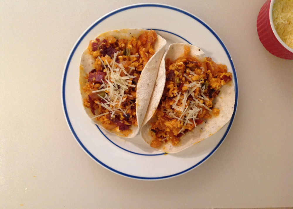 Chorizo and egg Tacos - Another one that fell to the woes of cooking chorizo completely wrong. I can't even - it was a mess.