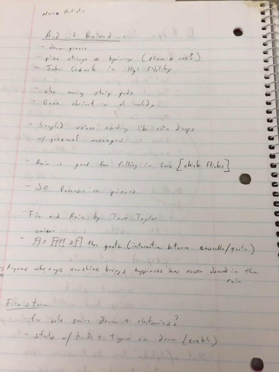 A page from my notebook.
