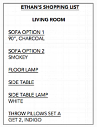 Click to see a sample shopping list.