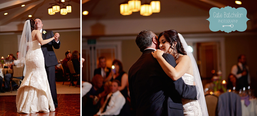 Father and daughter dance.