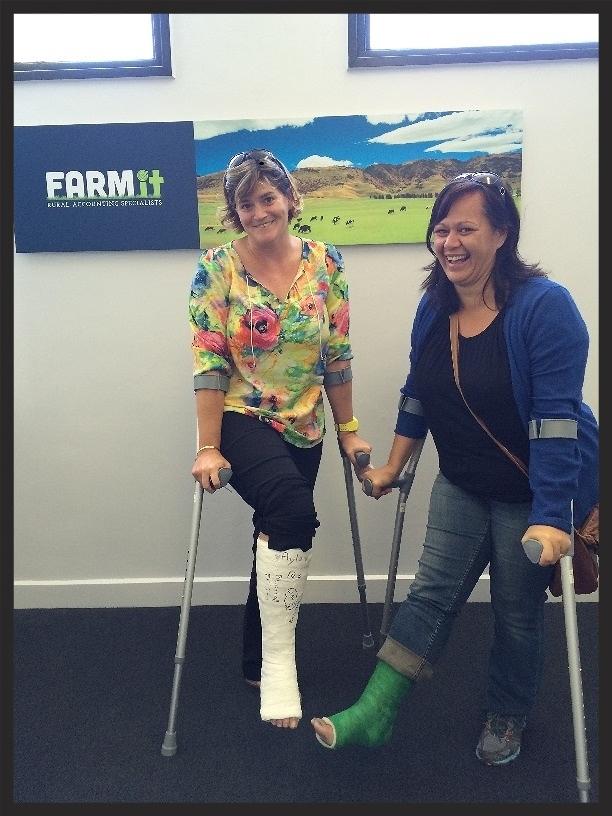 Donna and Debbie broken leg!.jpg