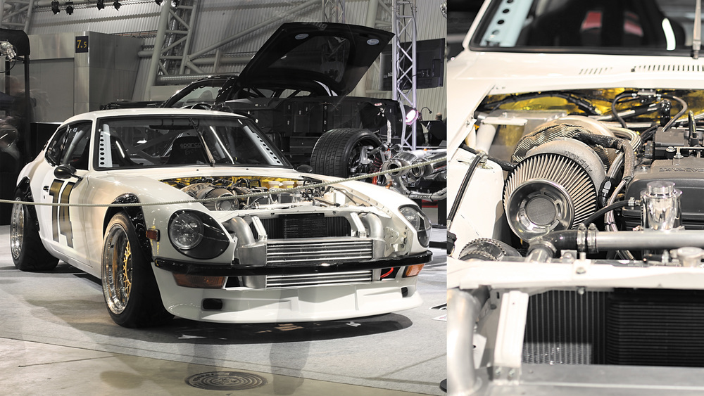 Toni Laari's 260z. Powered by a 2JZ. He received the Top Ten Tuning award.