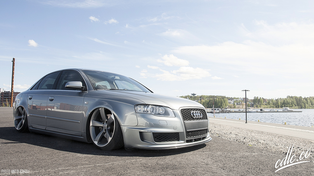 Janne Manninen's Audi was also set up for a promo shoot. It just resembles everything we stand for; low, clean, fitted.