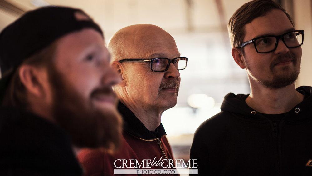 The guys: Lauri, Arto and Markus.