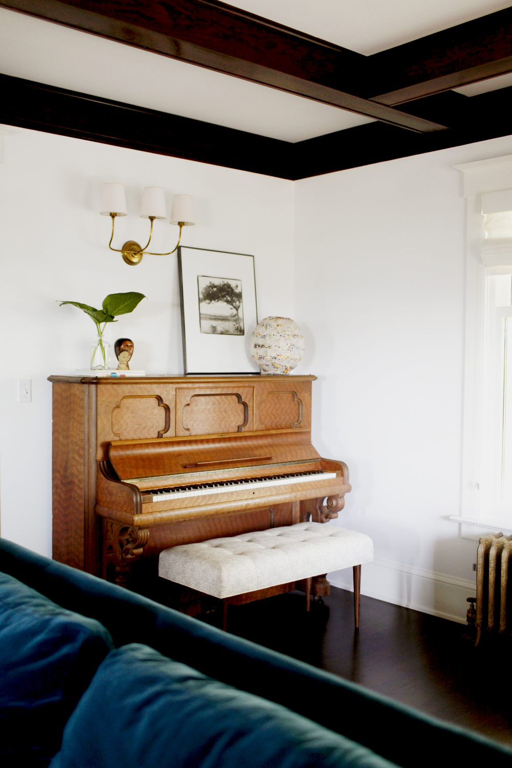 custom bench and piano styling by the emerald studio seattle