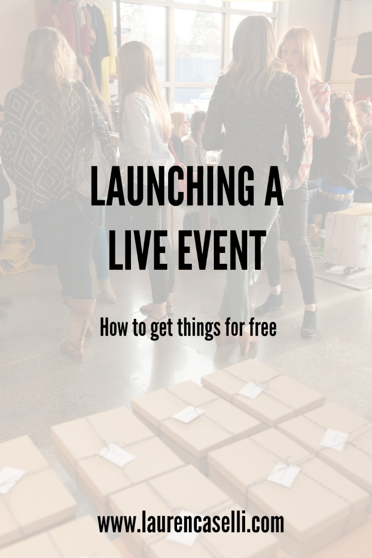 How to get things for free at your next live event