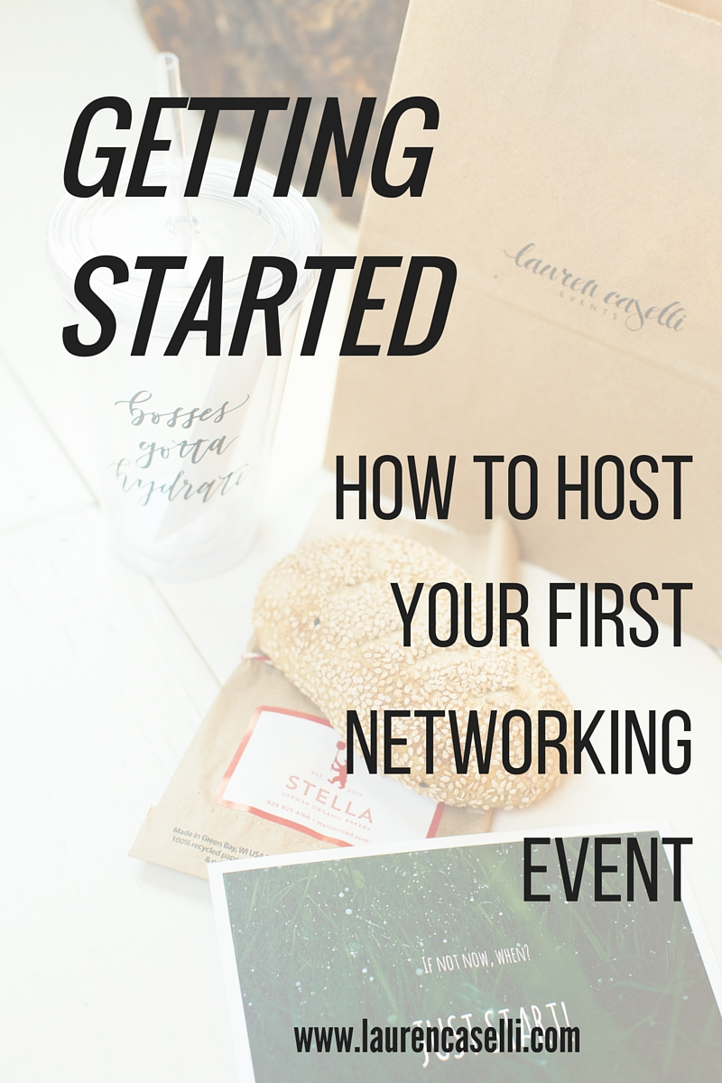Getting started with Networking Events! photo by Brooke Peterson Photography