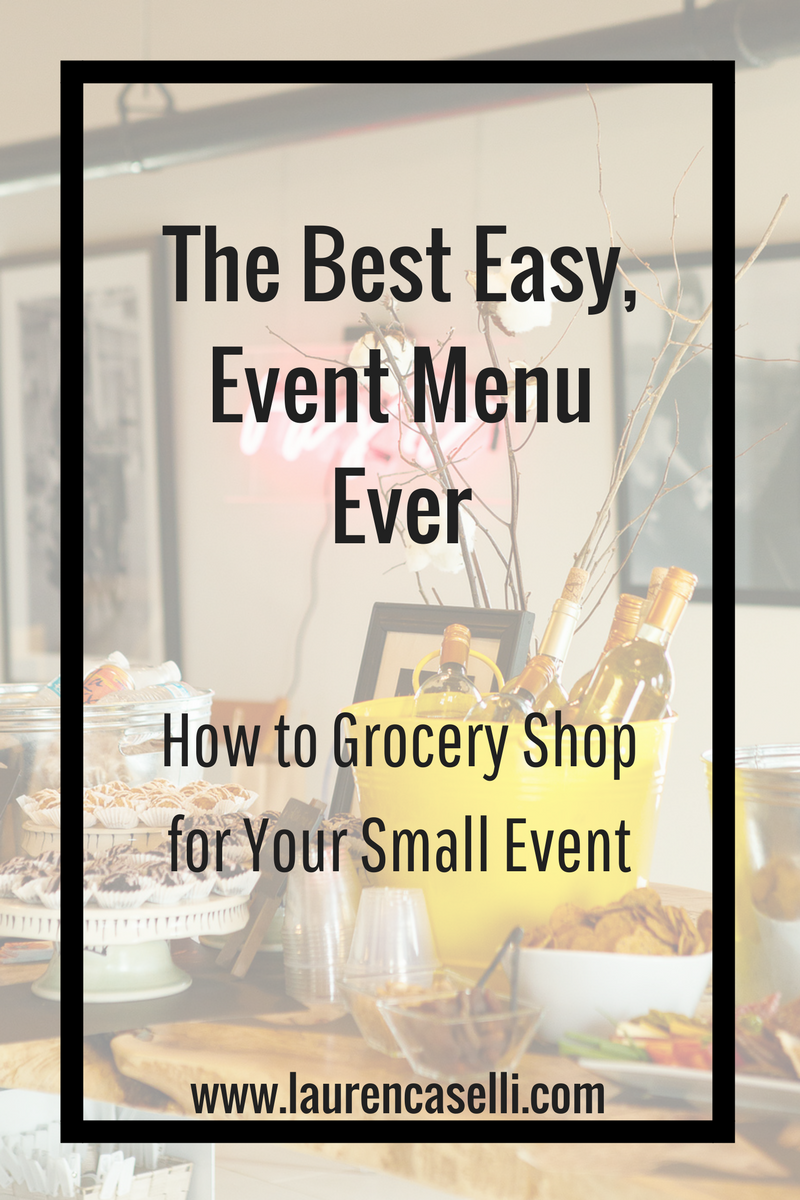 Want to plan a high-impact event, but don't have a ton of money to spend on food? This menu is my GO TO for all events around 40 - 50 people, and it saves a TON of time planning!