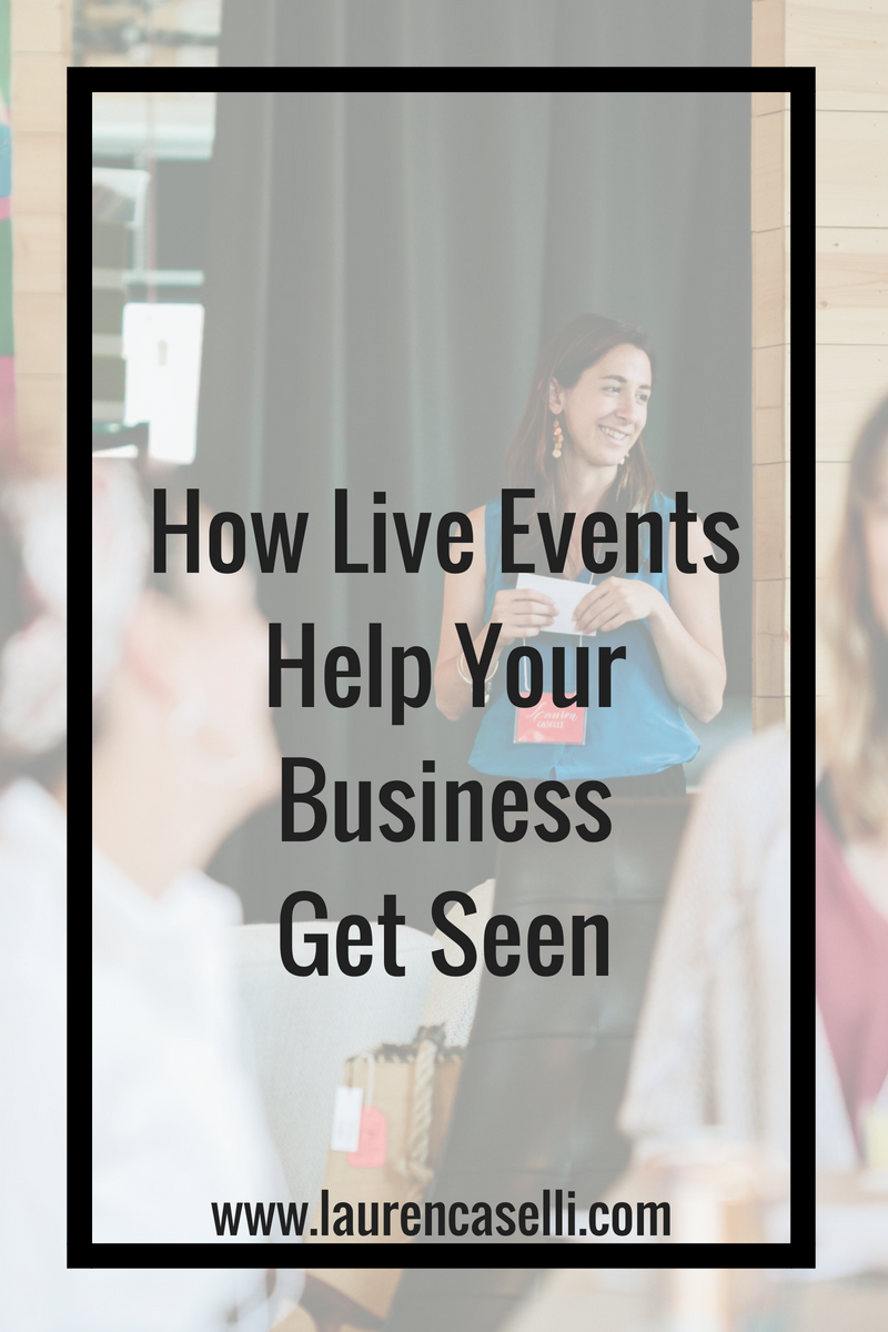 If you struggle with people knowing exactly what your business does, I'm going to help you get seen through hosting live events for your business. Watch this video to understand four ways you can leverage your business through live events!