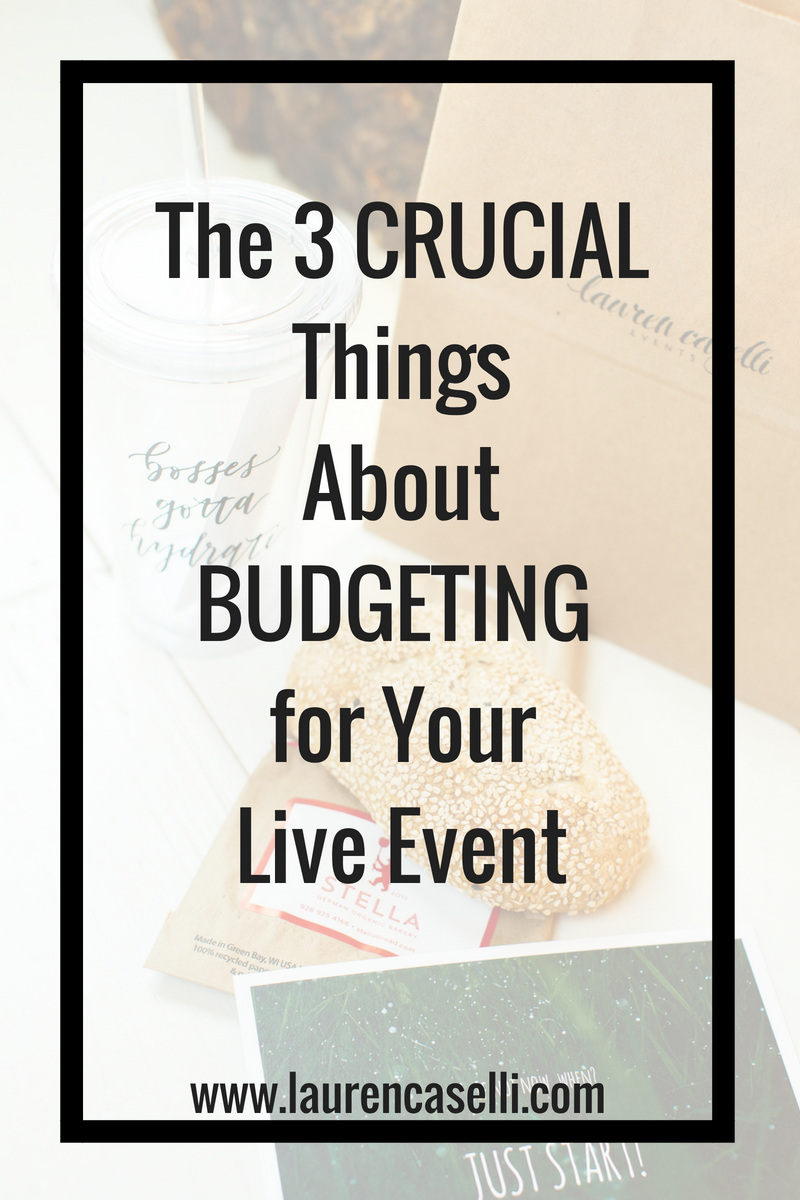 Hosting a live event? This post will help you budget like a pro!