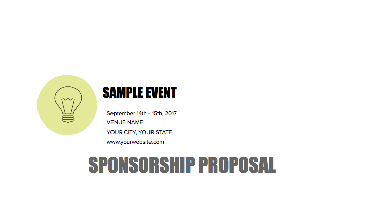 Want to create a professional sponsorship pitch deck? Here's an example of my Sponsorship Deck.