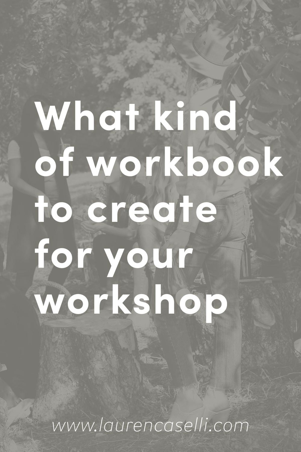 What sort of workbook should you create for your next live workshop?