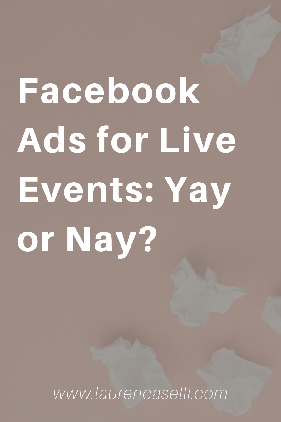 Should you use facebook ads to market your live events? In this post, I'll share my thoughts on why or why not!