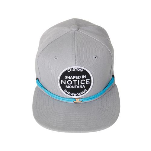 5fd7df03 Notice + Findlay Grey Snapback — Notice Custom Made to Order Snowboards