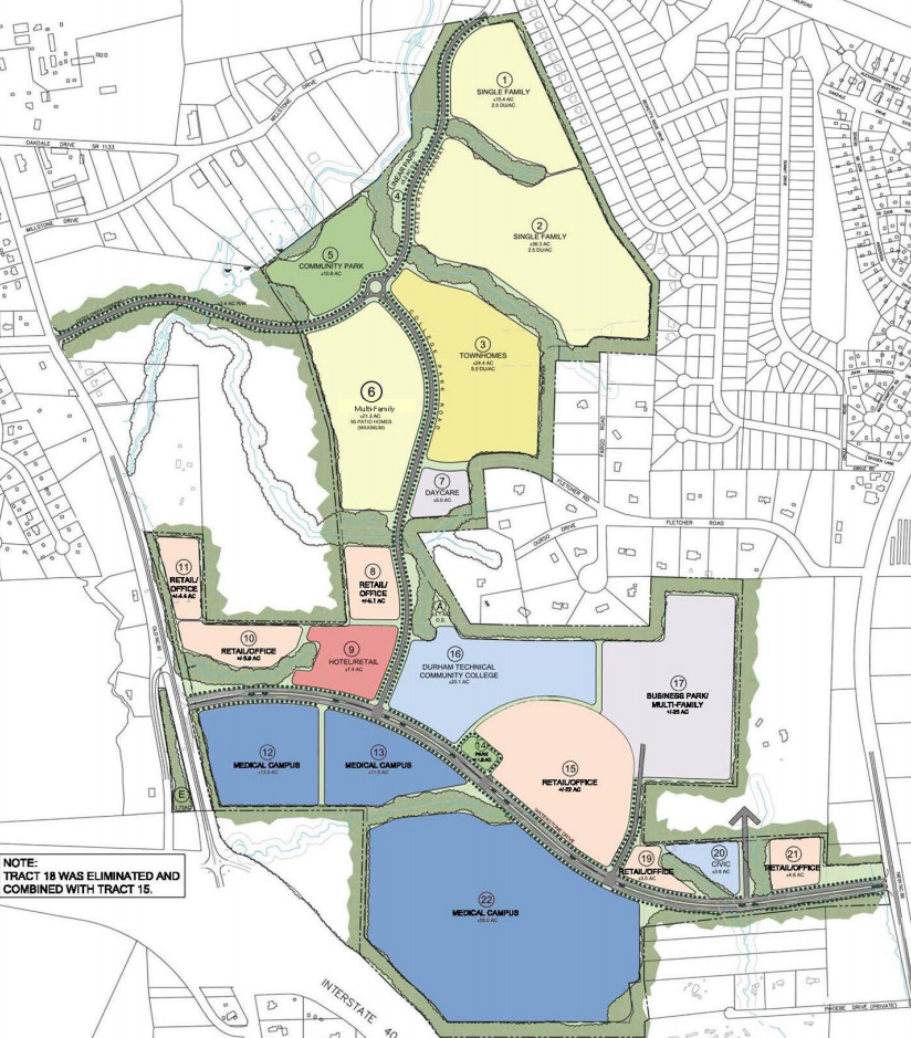 Map of the Waterstone Development Site Plan