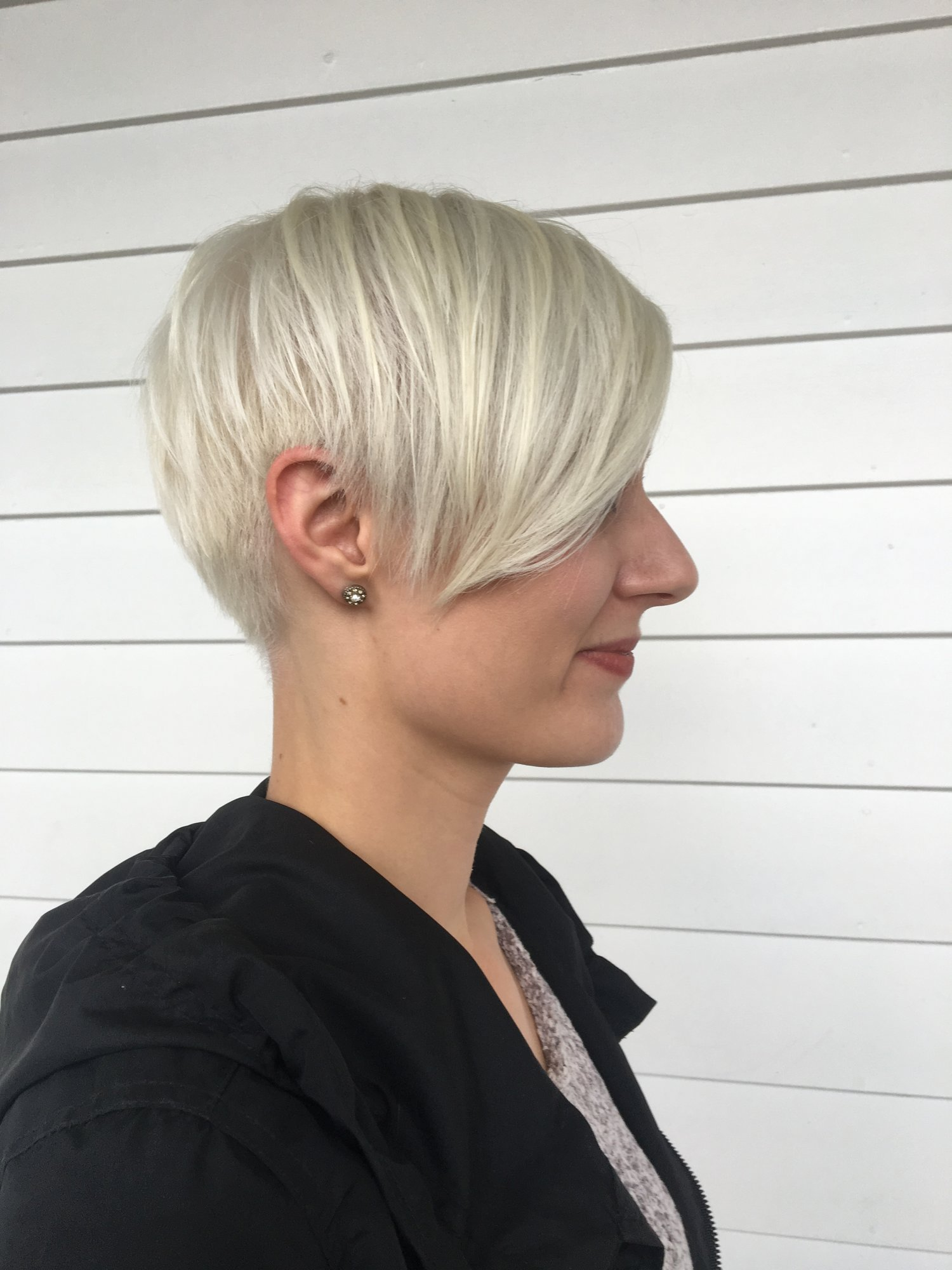 This Client Has Had Many Processes To Get Her Hair Platinum Tone Which Looks