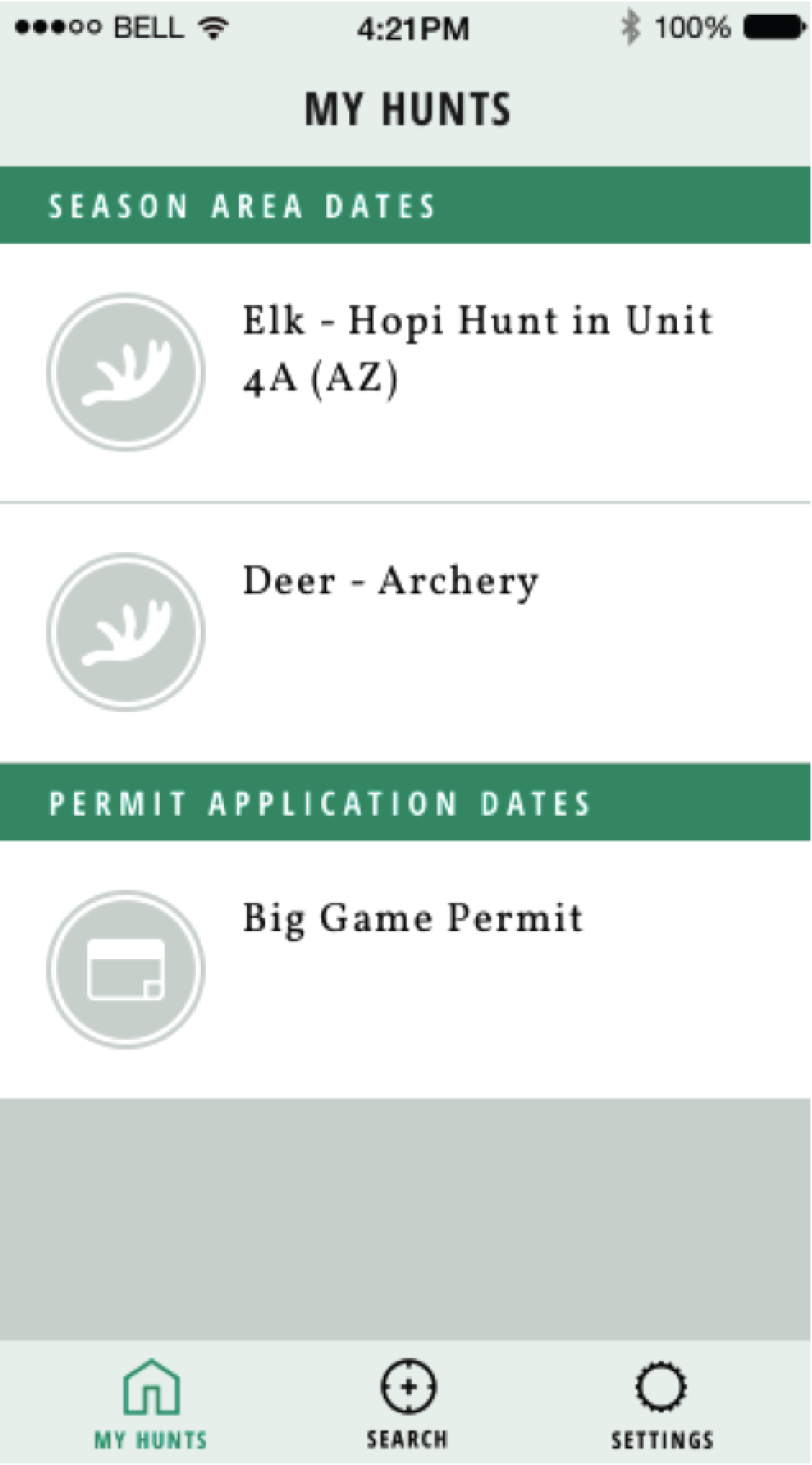 And add your selection to your MyHunts page. You'll receive an email or push alert the week before your hunt.