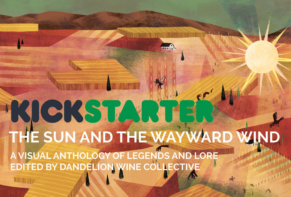 """dandelionwinecollective :    3, 2, 1, AWAY WE GO!   Check it out! It's our new Kickstarter campaign for  """"The Sun and The Wayward Wind""""  https://tinyurl.com/y9epr5up     For the first 24 hours, we have a special """"early bird"""" discount on """"The Chupacabra"""" tier and for the first 48 hours, a discount for """"The Wampus!""""   This campaign will run from November 13th to December 13th giving us a full 30 days to spread the word and bring in as many pledges as we can. Please share our campaign to all your friends, family, everyone you know who's a lover of folklore and storytelling! Every share can help tremendously in bringing this book to life.  Thank you so much and whether you're a returning supporter or are a new backer, we hope you'll join us in the next step of our journey!     I'm really excited to be part of this lovely project - check it out!! We're almost halfway funded so far! 💪 🎉"""