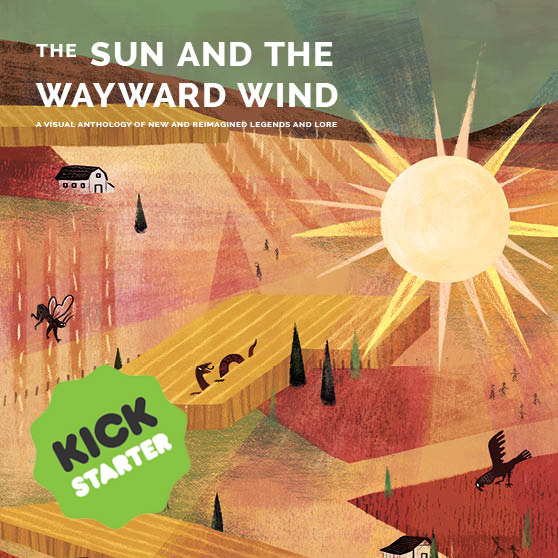 "dandelionwinecollective :     HELLO ALL, WE'RE LIVE!!! !!!    Check out our new Kickstarter campaign for ""The Sun and the Wayward Wind""      THANK YOU !!!!!!!      It's here!!! I'm so excited to be part of this amazing project, it's gonna be a really lovely book! There's a lot of great rewards and work from a lot of super great people available <3  I have a comic in here, and also have that postcard illustration, plus two small watercolor commissions available as part of the reward tiers (only one left now!)"