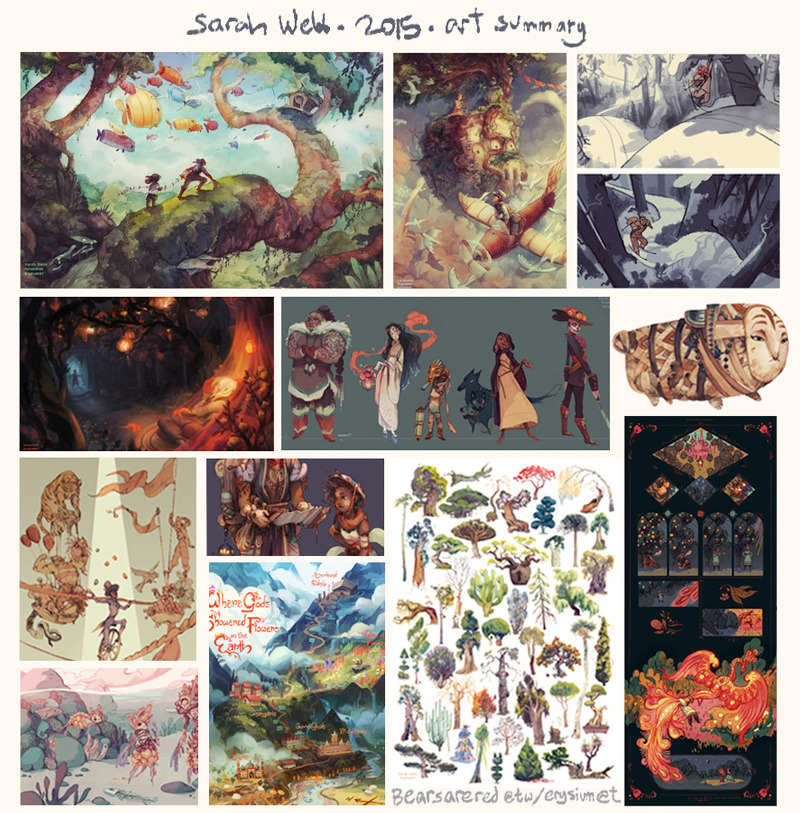 2015 was good! Hope you all have a good night, and an incredible new year.   I feel like I've made a lot of progress this year, even if it's not all visible yet (especially lately, I've been feeling a lot more certain of what themes/stylistic things I want to explore!)  My New Years Resolutions are to read more books, play more games, & be more conscious of what art/media I'm consuming; keep social media updated at least once a week; and get back to doing sketchbook stuff during my next semester study abroad in Italy! (ie more comics, more creature design, more watercolor/gouache studies, figure studies specifically in search of style and improving characterization, exploring certain themes, and working on compositions that are more conscious of negative space/design choices/not overcrowding images with extra detail!)