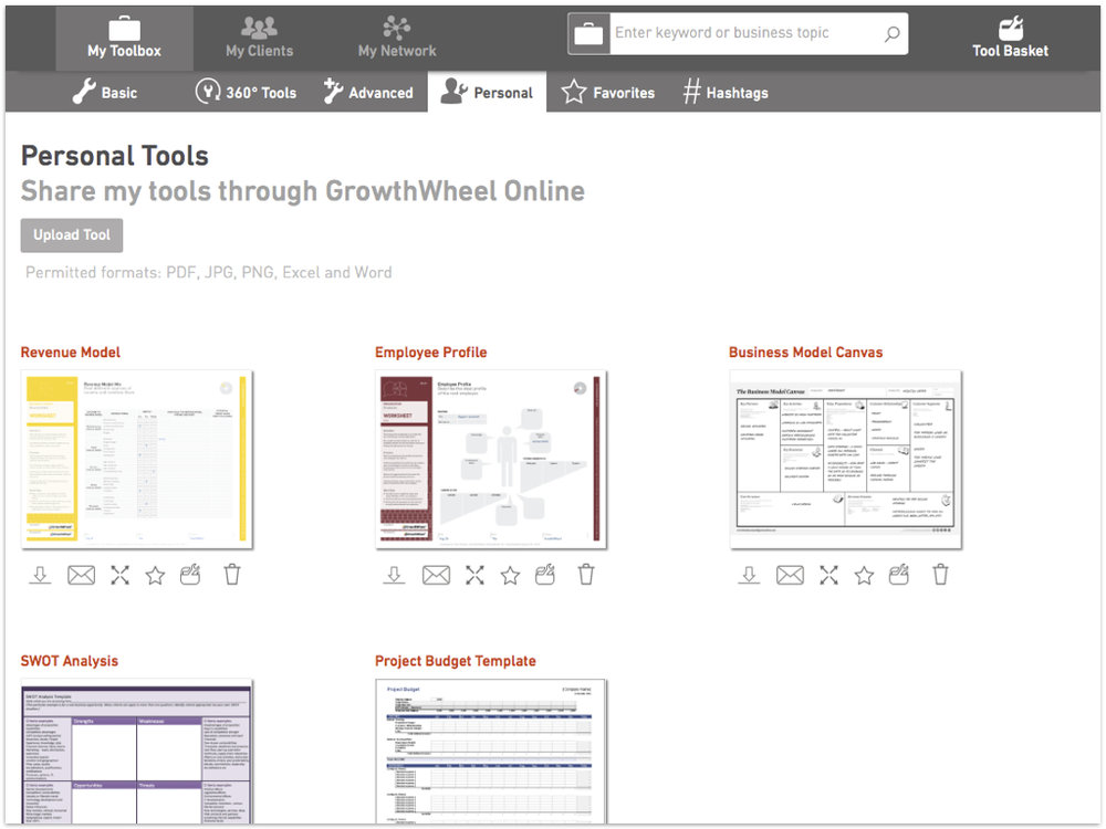 GrowthWheel Online Shared Files