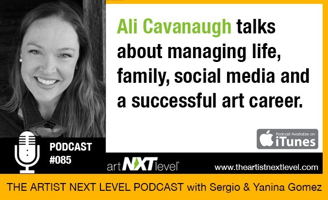 The Artist Next Level Podcast with Sergio Gomez - LISTENAli talks about managing life, family, social media, and a successful art career.
