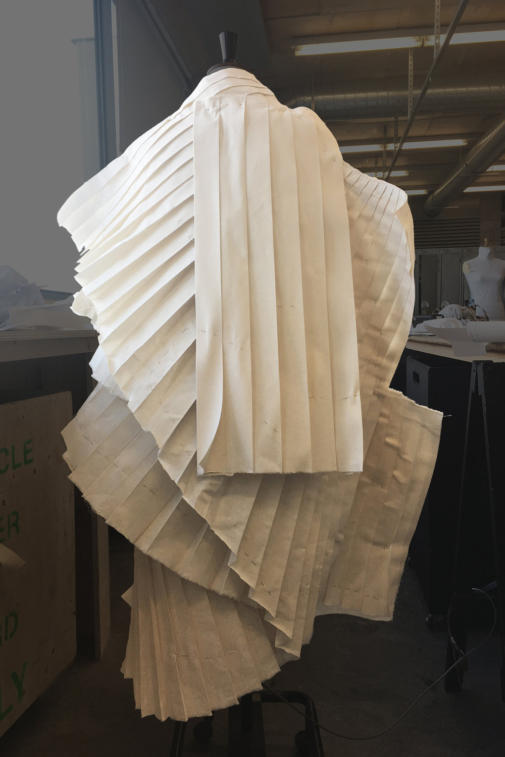PROCESS: translating the pleats to calico