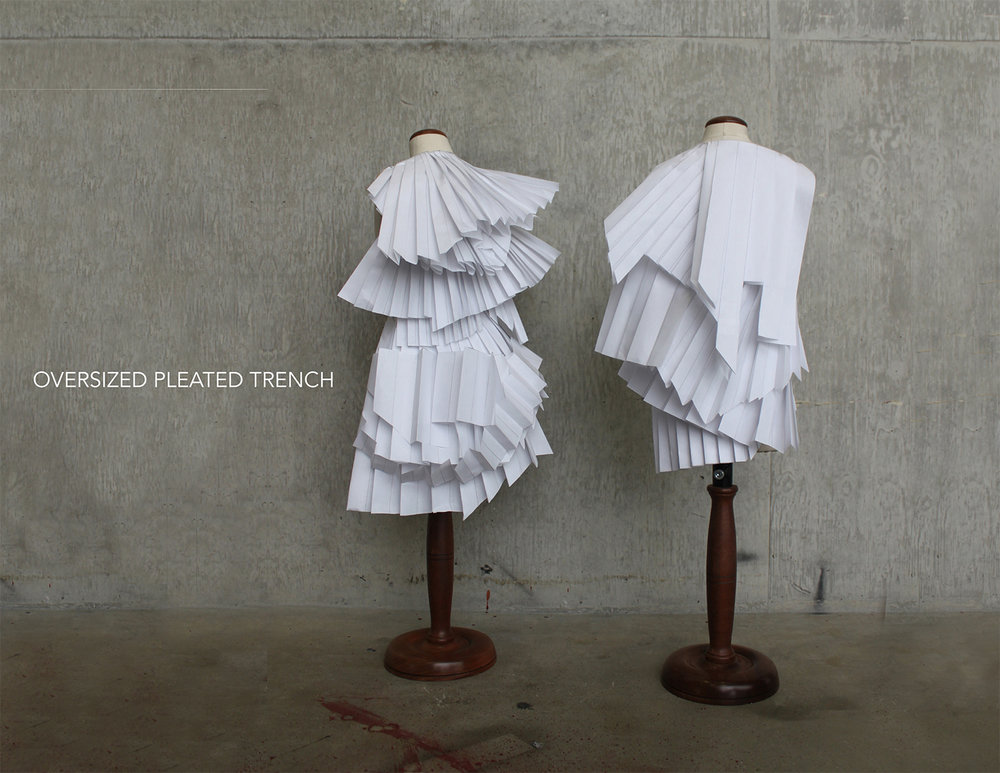 Oversized Pleated Trench   Design miniatures  2017