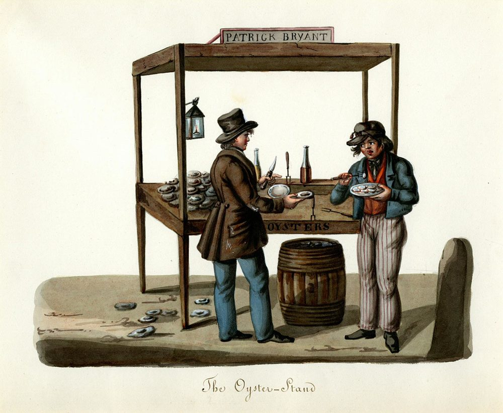 fig. a:  the oyster-stand