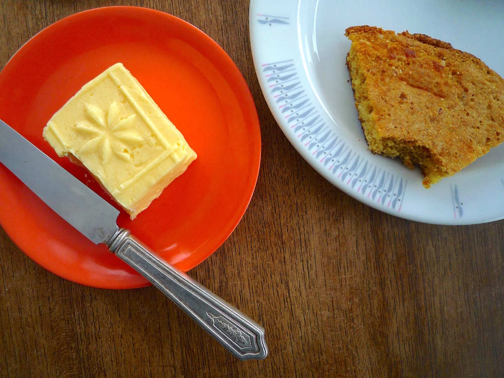 fig. b:  butter & corn bread