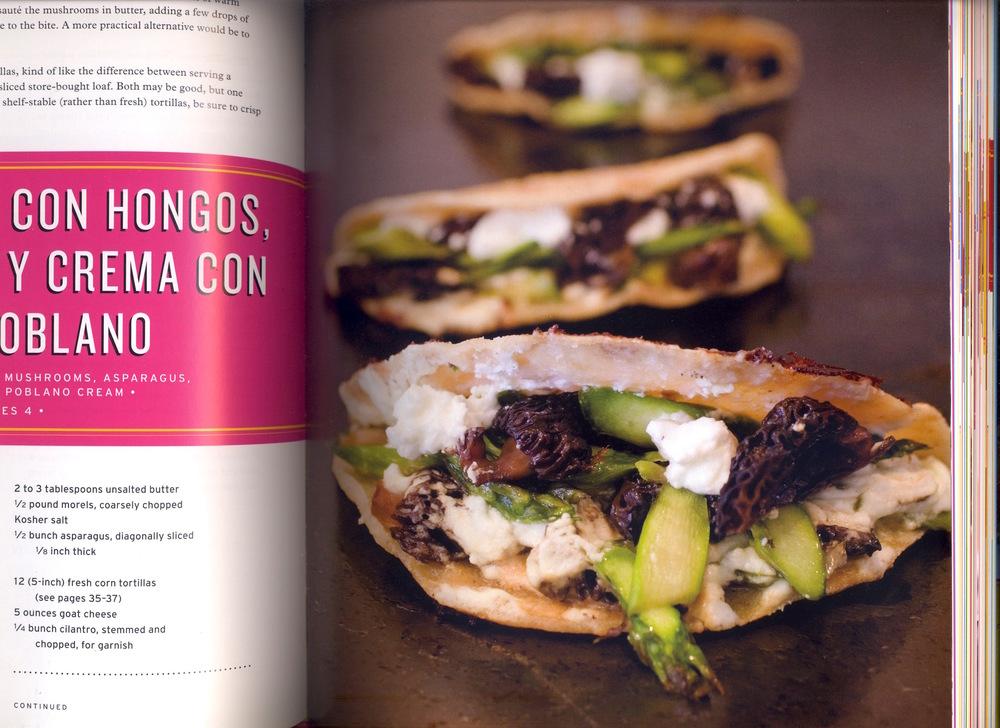 fig. b: Doña Tomas's quesadillas con hongos y asparagos