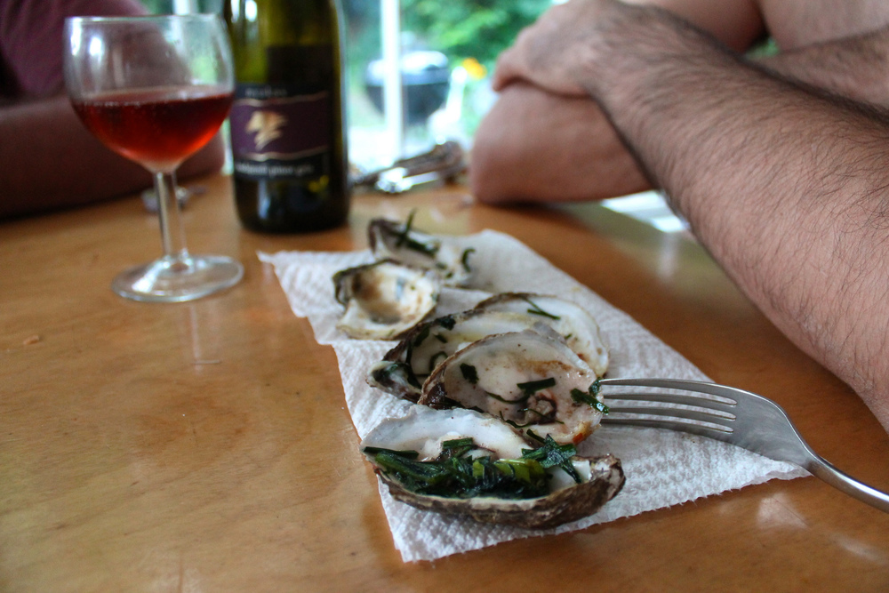 fig. g:  grilled oysters + rosé
