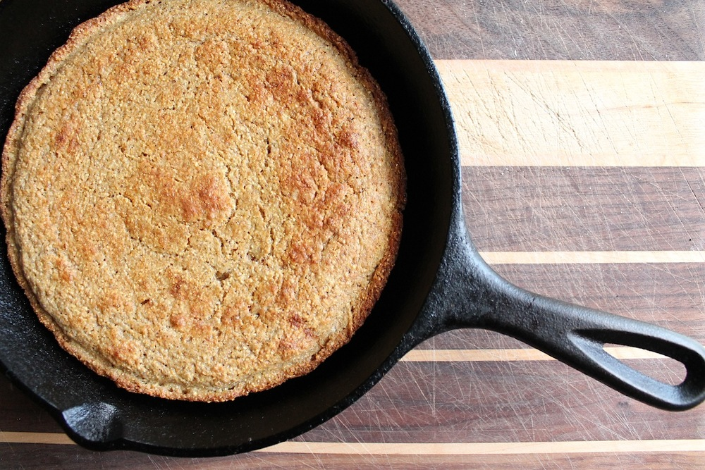 fig. c:  true skillet corn bread