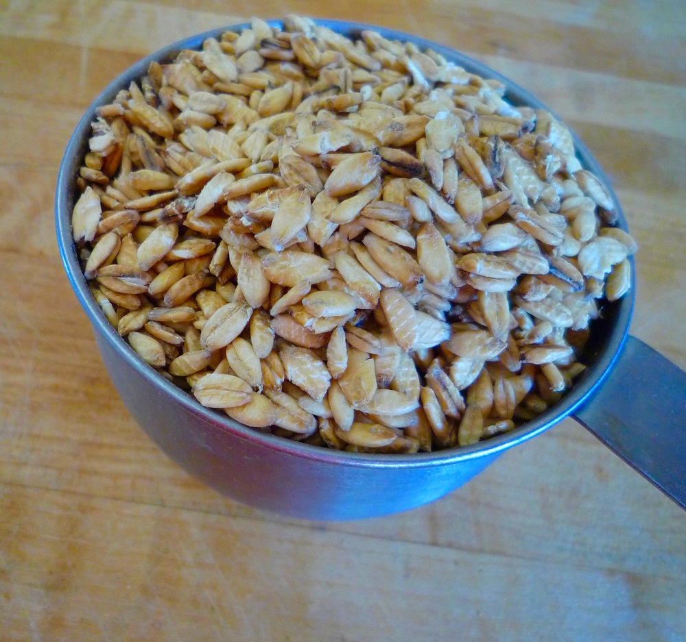 fig. h:  raw oats