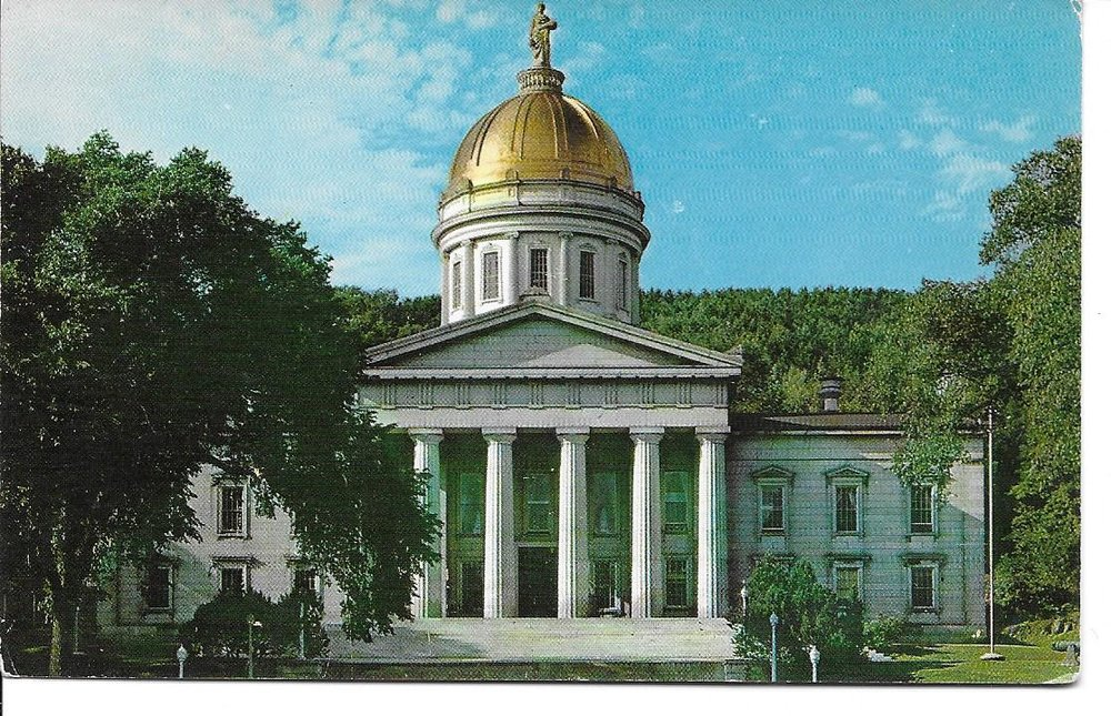 fig. b: Vermont State House, featuring Ceres, Montpelier, VT